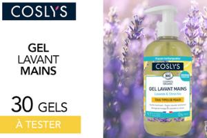 gel lavant mains lavande & citron bio de Coslys