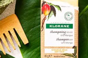 shampooing solide à la mangue de Klorane