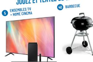 un barbecue Weber compact et un kit TV LED Samsung