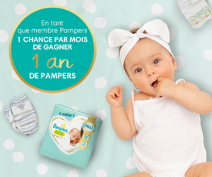 1 an de couches Pampers à gagner