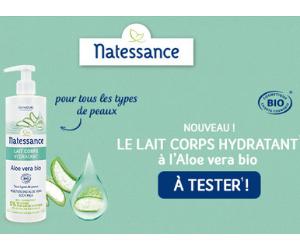 lait corporel hydratant à l'Aloe Vera bio de Natessance