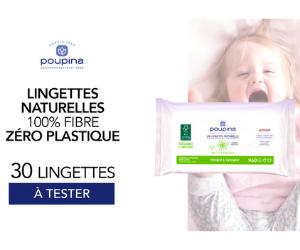lingettes naturelles zéro plastiques Poupina