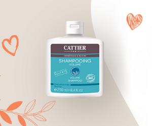 shampooing volume sans sulfates Cattier