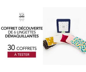 Coffret Découverte de Lingettes Démaquillantes Le Petit Carré Français