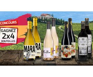 coffret de 4 bouteilles de vins espagnols