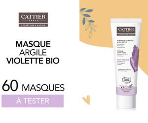 masque à l'argile violette de Cattier