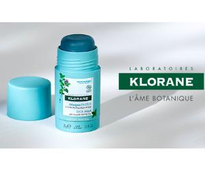masque visage en stick purifiant bio de Klorane
